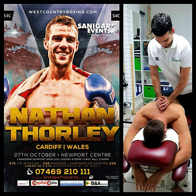 Tight neck shoulder pain Cardiff Nathan Thorley Welsh boxng champion ADT Chiropracitc headaches