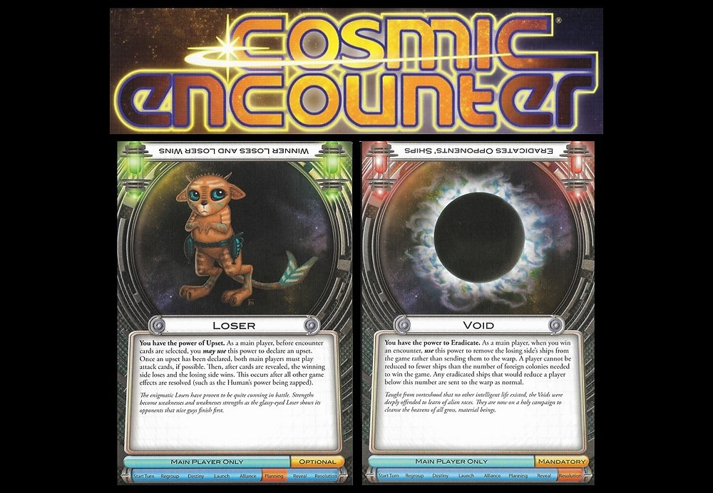cosmic encounter game and cards - play with lilach