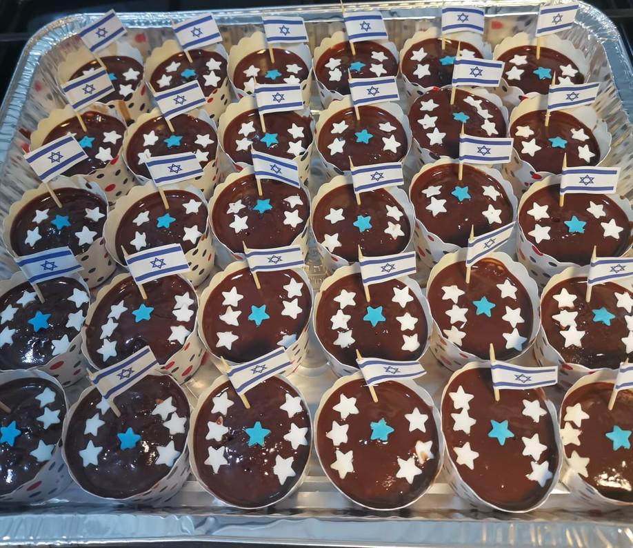 מתכון לקאפקייקס שוקולד קל מהיר וטעים ליום העצמאות