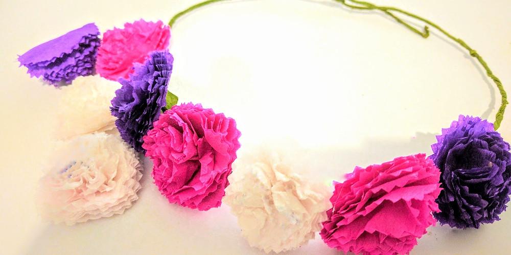 יצירת זר כתר פרחים לשבועות play with lilach