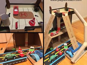 איך מכינים חניון משחק למכוניות? משחקי מכוניות לילדים DIY