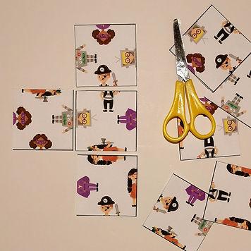 פאזל דמויות לפורים 9X9 משחק להורדה משחק להדפסה