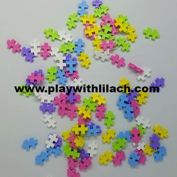 משחק הרכבה לגו פלוס פלוס plus plus play with lilach