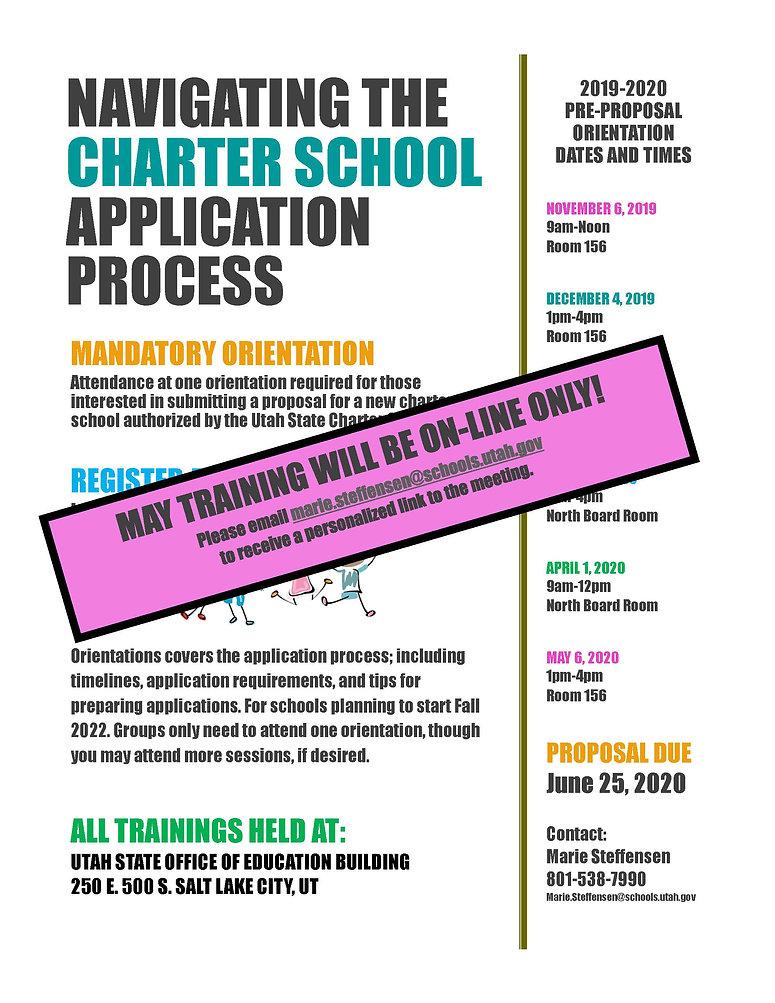 19-20 Charter App Process Training--May.