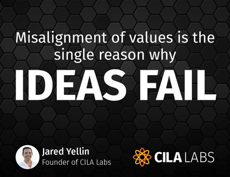 Misalignment of values is the single reason why ideas fail…
