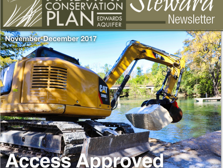 REP's River Access Improvements in San Marcos, TX Appear in Habitat Conservation Newsletter