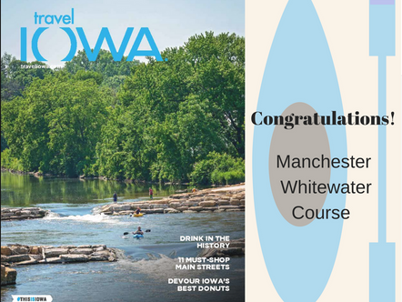 Our project in Manchester has been elected as the cover of the Travel Iowa 2018 Travel Guide!