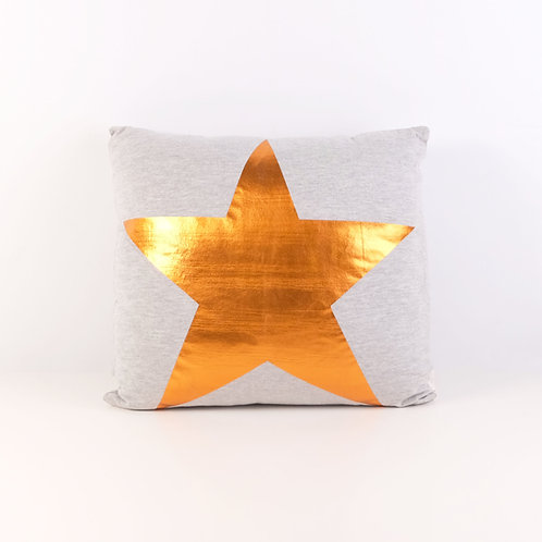 Light Gray Cushion with star print