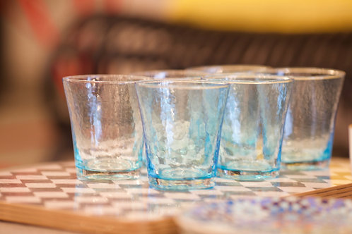 Colored Water Glass - Set of 6