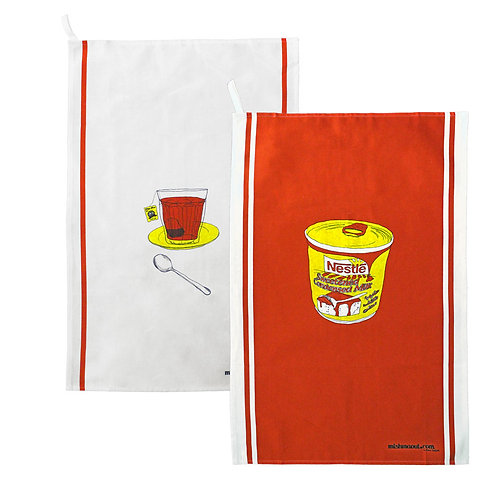 Tea Cup & Nestle Tea Towel Set