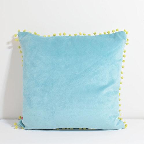 Plain Pompom Cushion