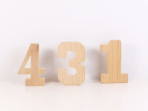 Wooden Numbers