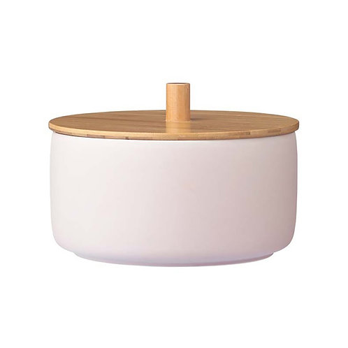 Blush Bowl with Bamboo lid