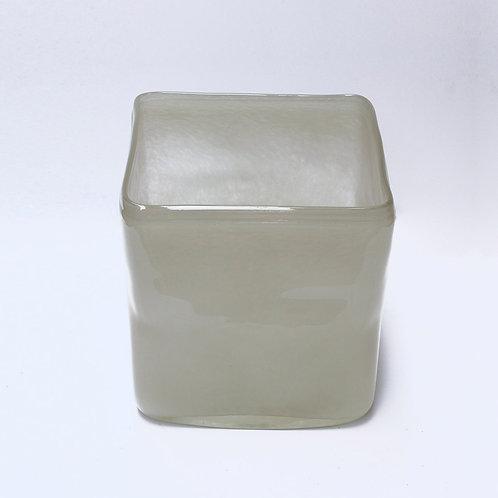 Beige Cube Vase