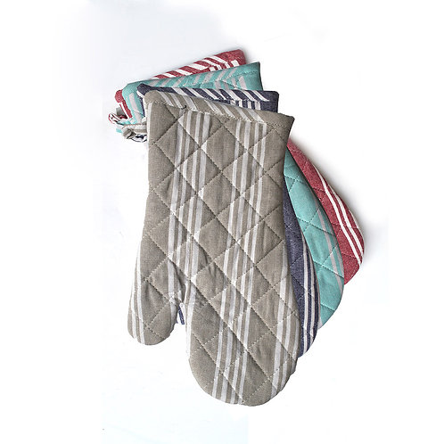 Stripped Oven Mitts