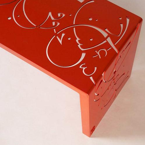 Engraved Metal Bench