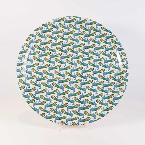 Peacock Round Tray