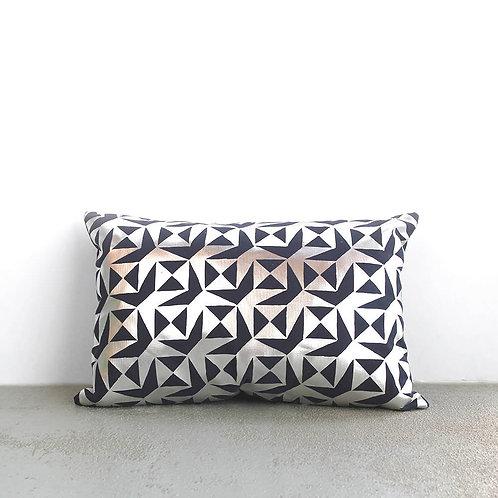 Metallic Geometric Cushion
