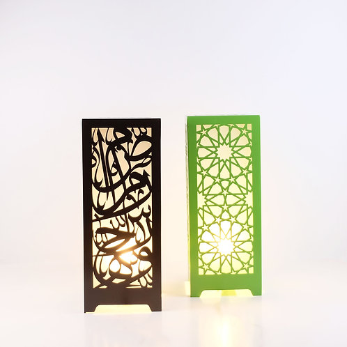 Wooden Calligraphy Light