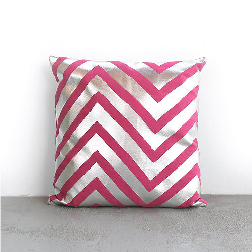 Metallic Zigzag Cushion