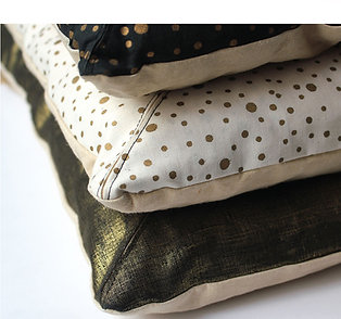 Long Metallic Cushion