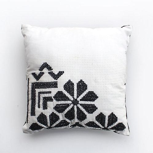 White and Black Cushion