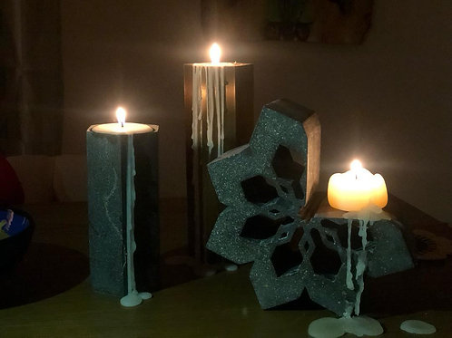 Arabesque Candle Holder Concrete