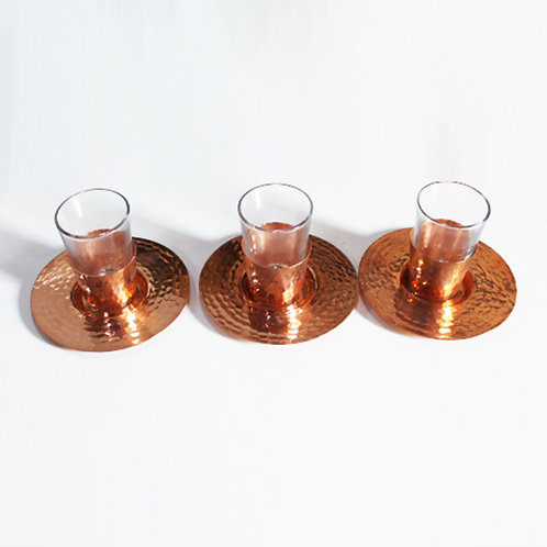 Tea Cups Copper Set