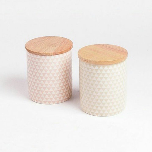 Patterned Canister  Tall