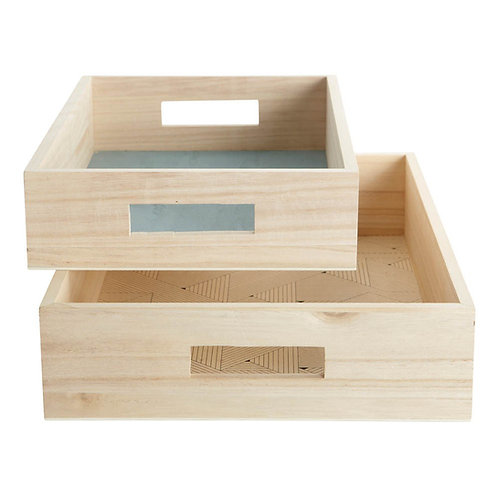 Graphic Print Wooden Trays