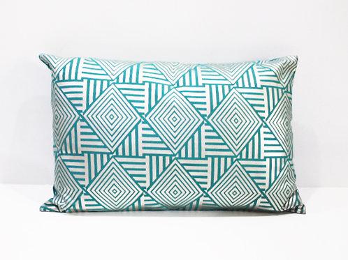 Metallic Zigzag Cushion