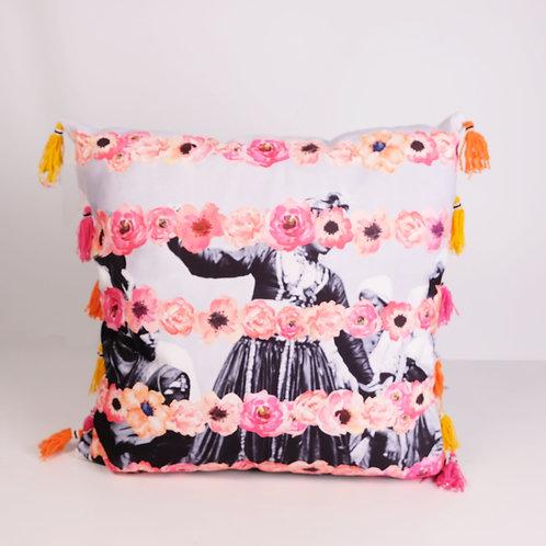 Watercolour Florals On Girls Cushion