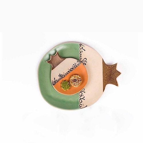 Pomegranate Plate Green Set