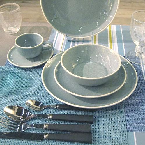 Plain Blue Soup Bowl Set