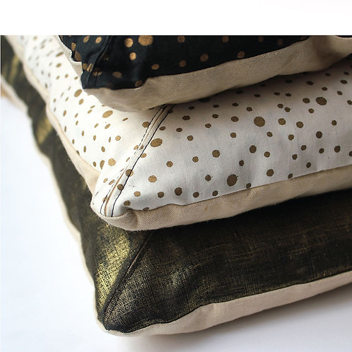 Long Metallic Cushion - Beige