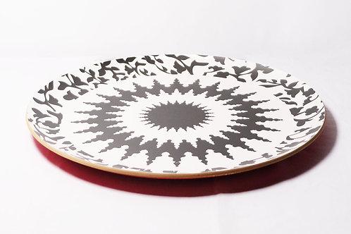 Round Mosaic Laminated Tray