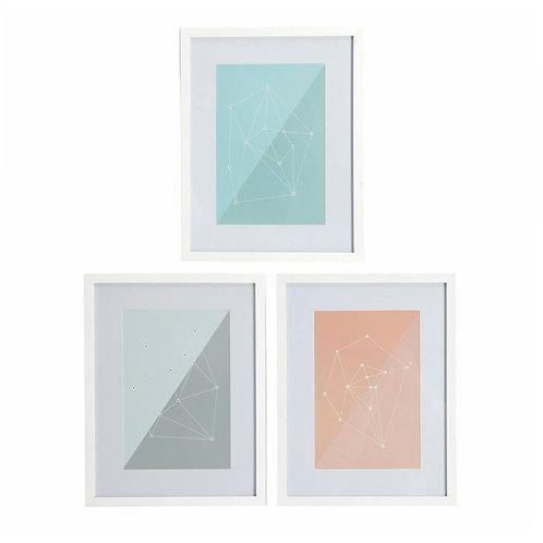Geometric Illustration with White Frame Set