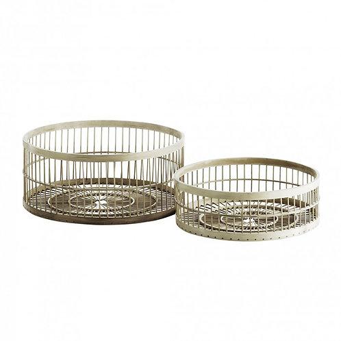 Round Bamboo Basket Set