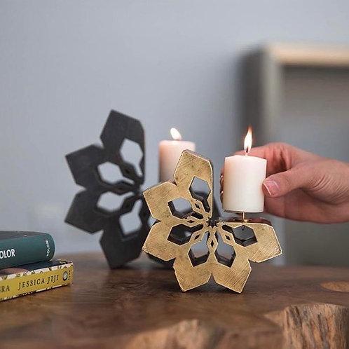 Arabesque Candle Holder Brass