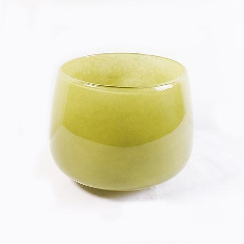 Olive Glass Pot L
