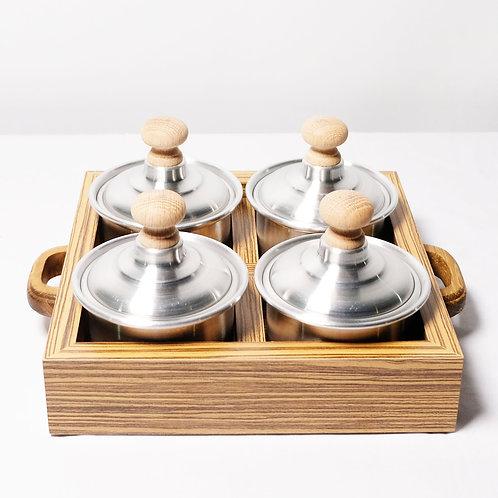 Tray With Tin Jars