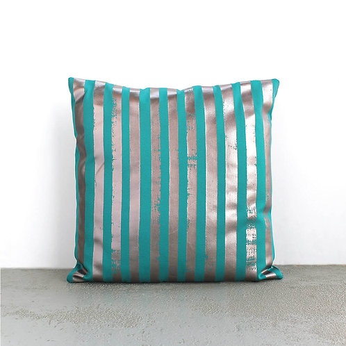 Metalic Striped Cushion