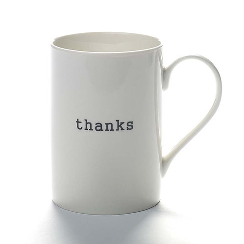 "Mug ""Thanks"""