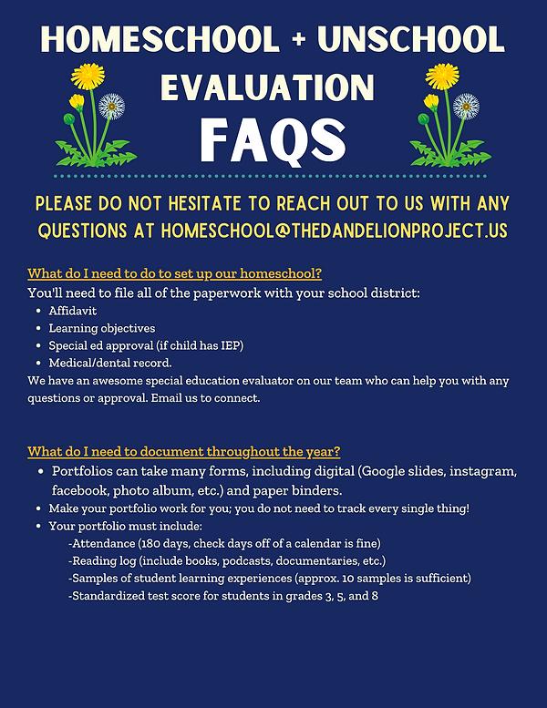 PA Homeschool + unschool evaluations (2)