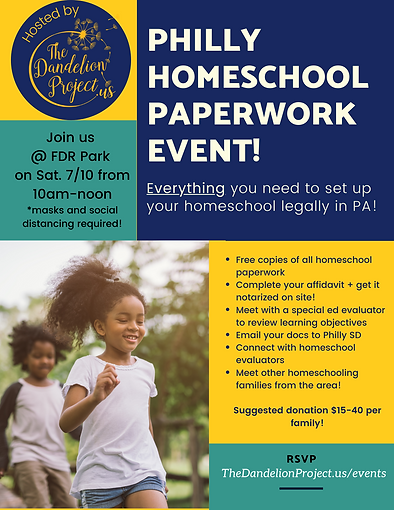 Philly Homeschool Paperwork Event, Homes