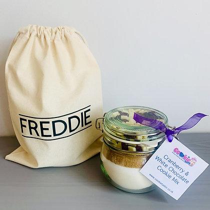 Personalised Gift Bag & Cookie Mix Jar