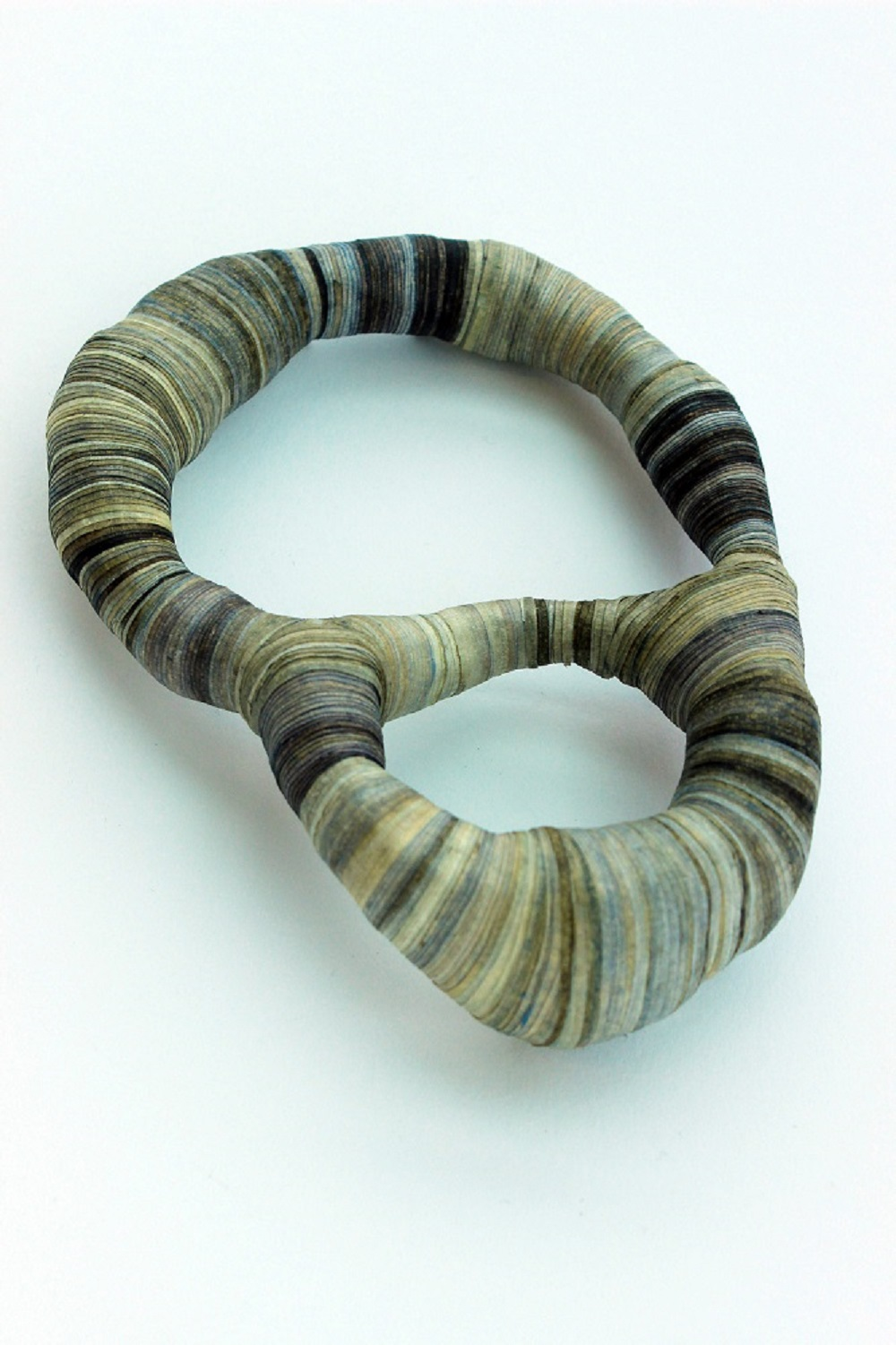 'Bound' Double Loop Brooch