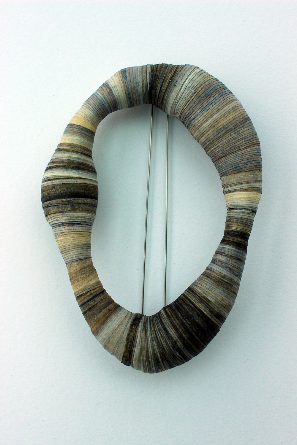 'Bound' Oval Brooch