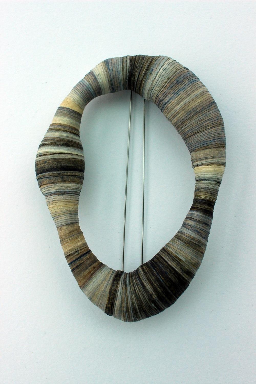 'Bound' Oval Brooch