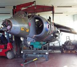 Harrier GR3 extraction RAF College